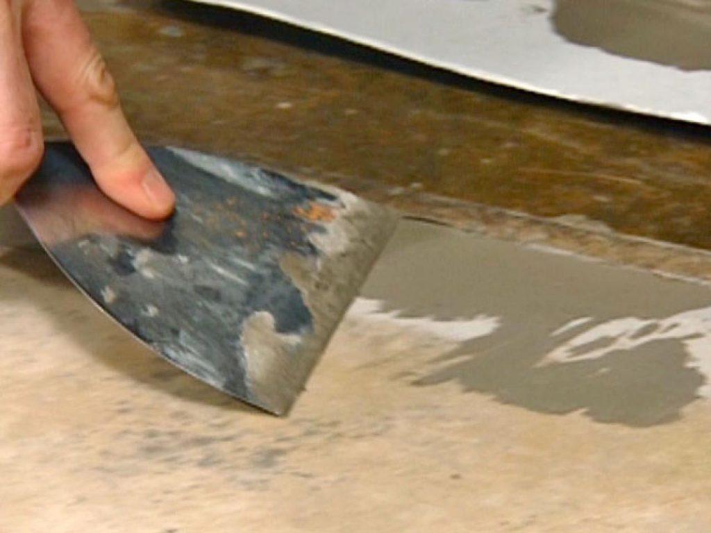 Укладка линолеума на неровный бетонный пол