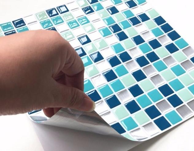 Как клеить плитку мозаику