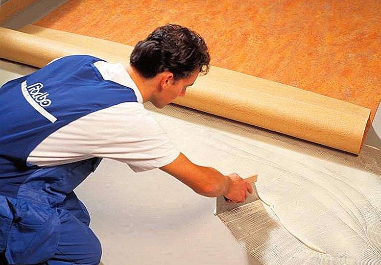 Линолеум укладка своими руками на бетонный пол