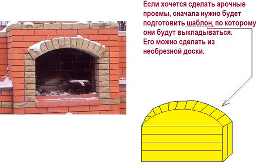 Печка мангал из кирпича